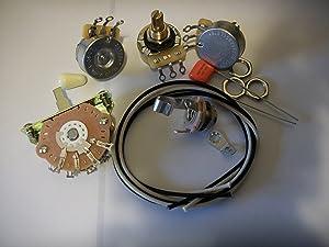 Blender Wiring Harness Kit For Strat CTS Oak Switchcraft .047uf Orange Drop