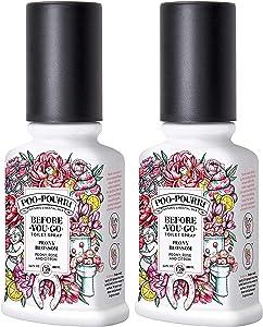 Poo-Pourri Before You Go Toilet Spray 3.4 Oz Peony Blossom, 2 Pack
