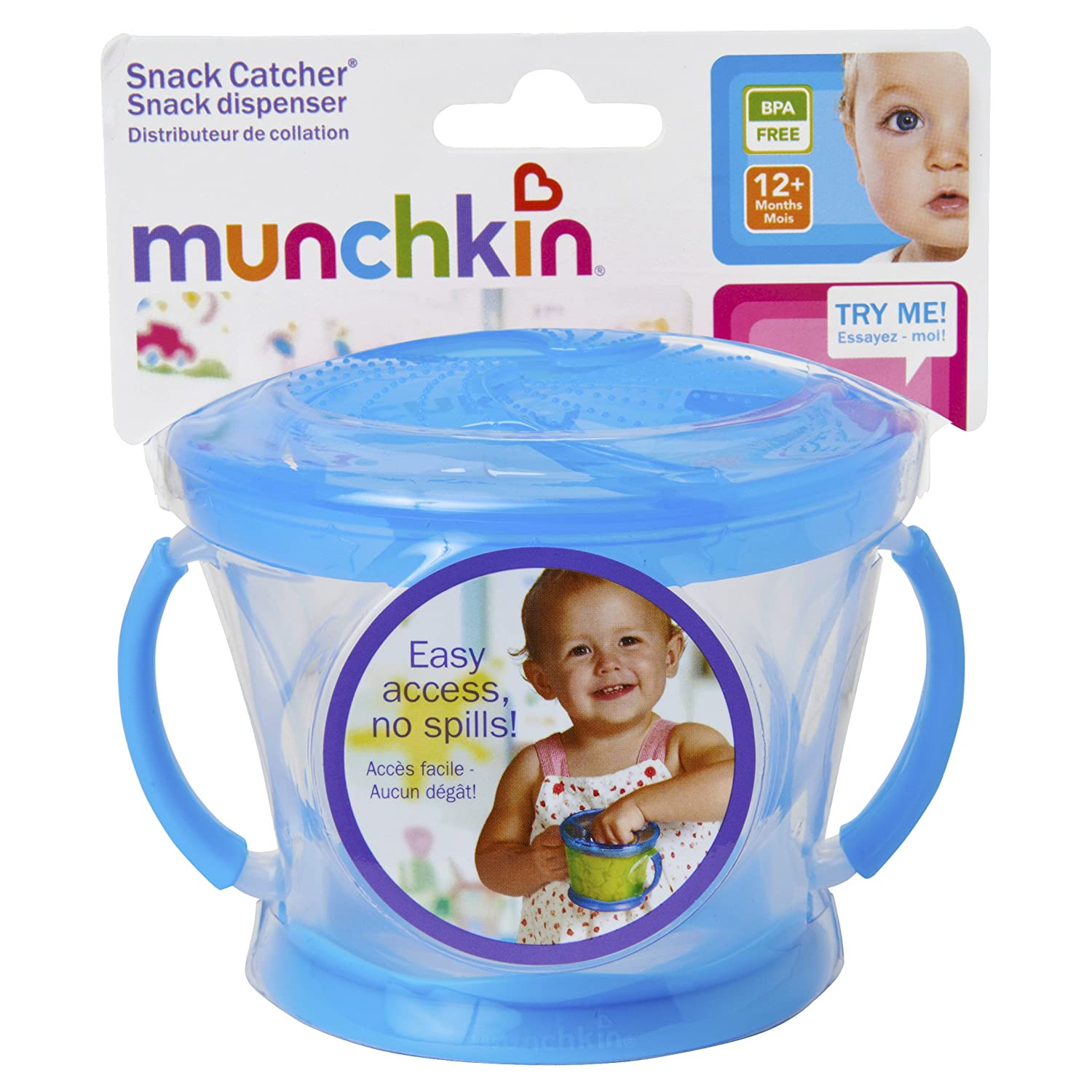 Munchkin 2 Piece Snack Catcher Blue/green Feeding
