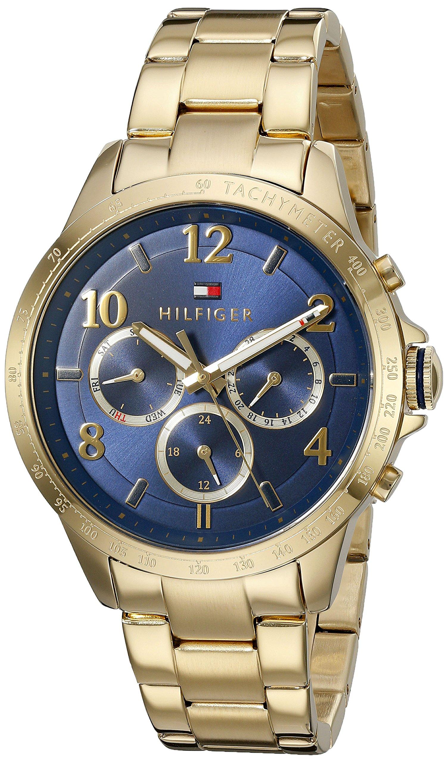 Tommy Hilfiger Women's 'DANI' Quartz Gold Plated Casual Watch (Model: 1781643)
