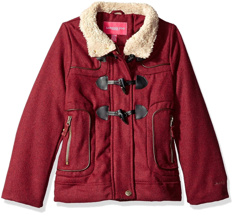40e8b08c8 Amazon.com  London Fog Girls  Big Toggle Wool Coat with Faux Fur ...
