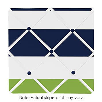 Amazon.com: Sweet Jojo Designs Navy Blue, Lime Green and White ...