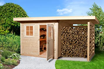 Weka Gartenhaus 170 Größe 2 mit Schleppdach: Amazon.de: Garten