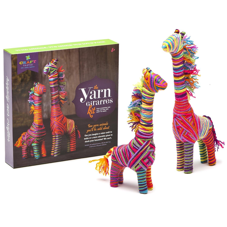Amazoncom Ann Williams Group Craft Tastic Yarn Giraffes Kit  Craft