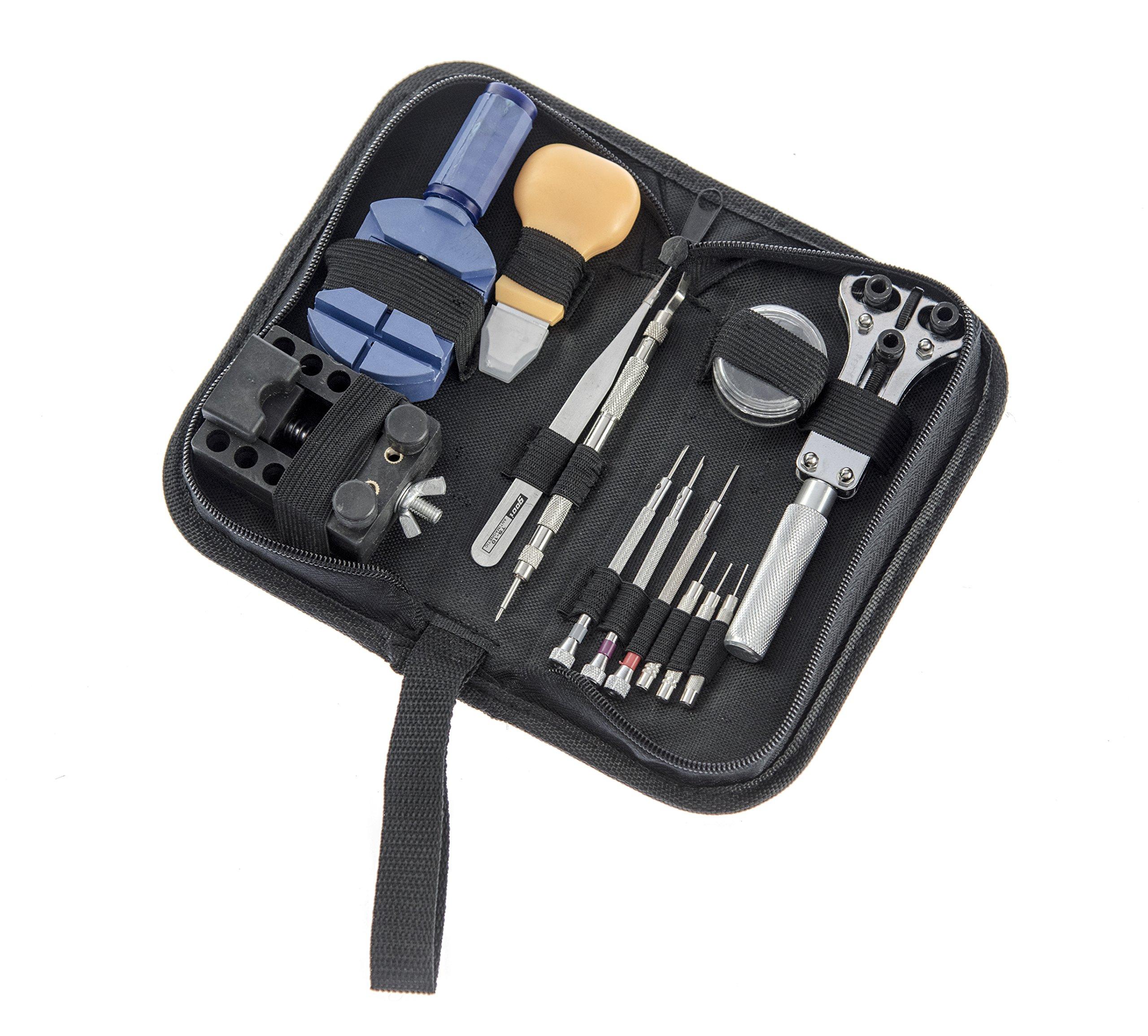 SE JT6222-CHINA Watch Repair Tool Kit, 13-Piece