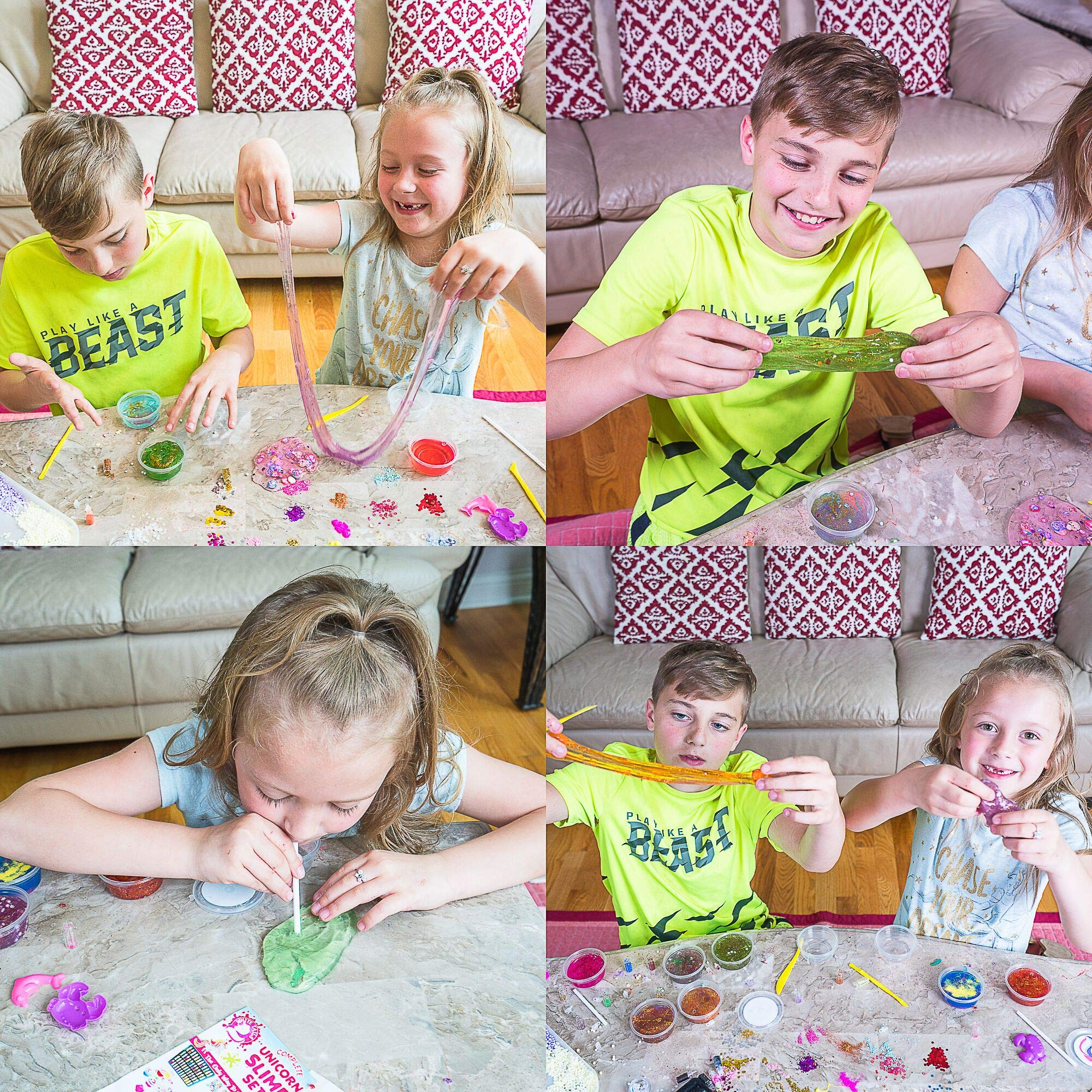 White Tails Unicorn Slime Kit for Girls and Boys 12 Containers of Clear Slime for Kids by White Tails (Image #5)