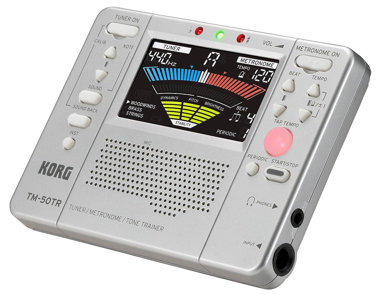 Silver Korg TM50TRSL Trainer Metronome Tuner
