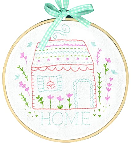 Amazoncom Dmc Sweet Home Charles Crafttamar Embroidery Kit