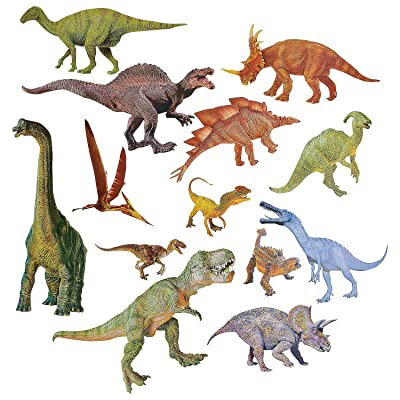 Fun Express Jumbo Dinosaur Cutouts - 13 Pieces - Educational and Learning Activities for Kids: Toys & Games
