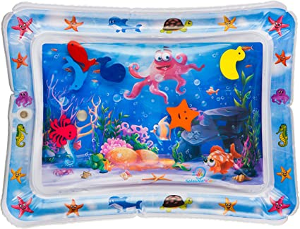 Baby Inflatable Water Play Mat Tummy Time Playmat Fun Activity Pool Cushion LY