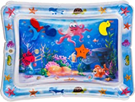 Splashin'kids Inflatable Tummy Time Premium Water mat Infants & Toddlers is The Perfect Fun time Play Activity Center...