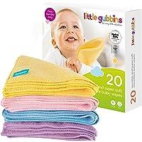 20 toallitas para bebé MICROFIBRA de Little Gubbins