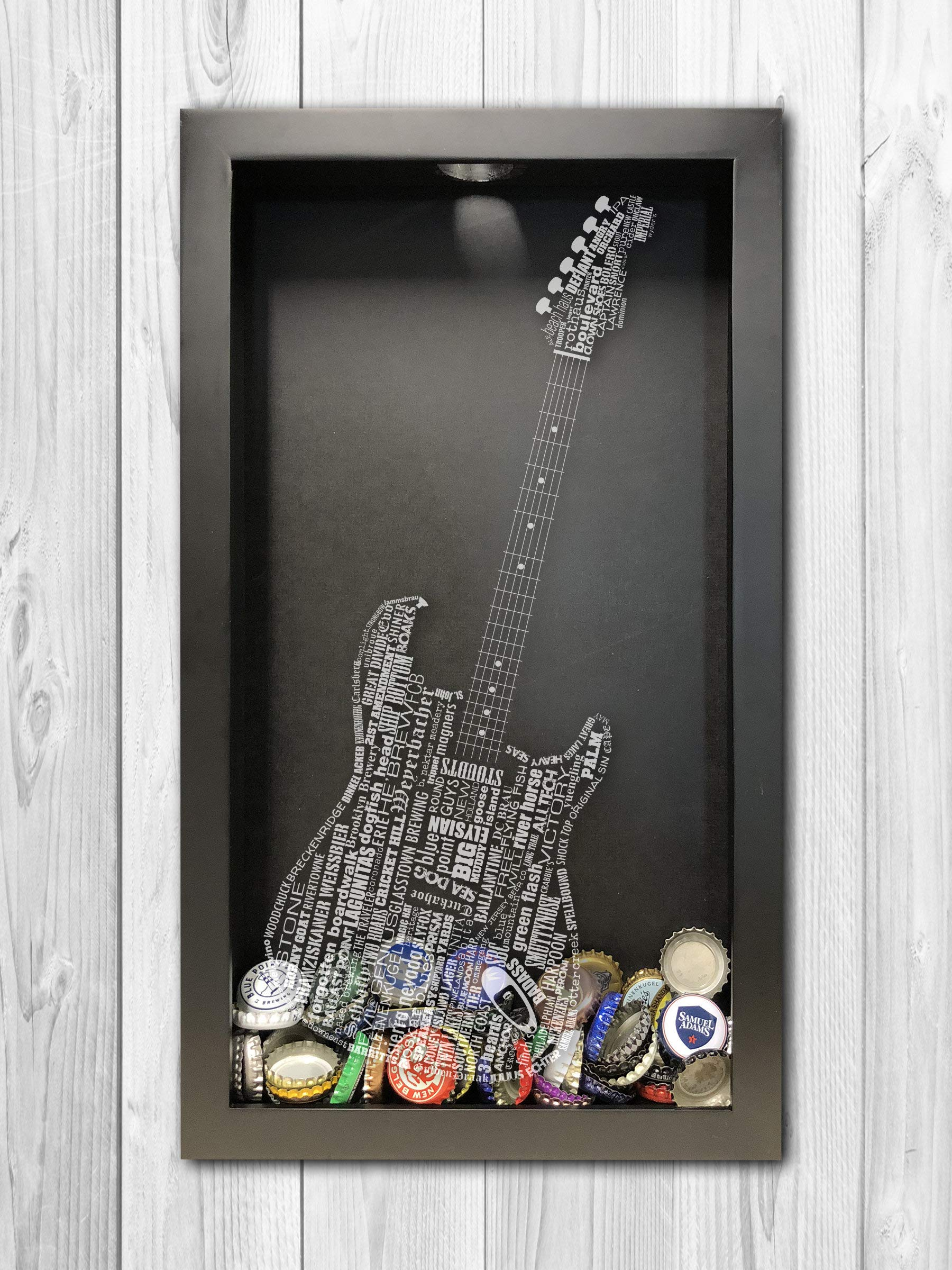 Guitar Shadow Box, Guitar Craft, Shadow Box Art, Guitar Home Décor