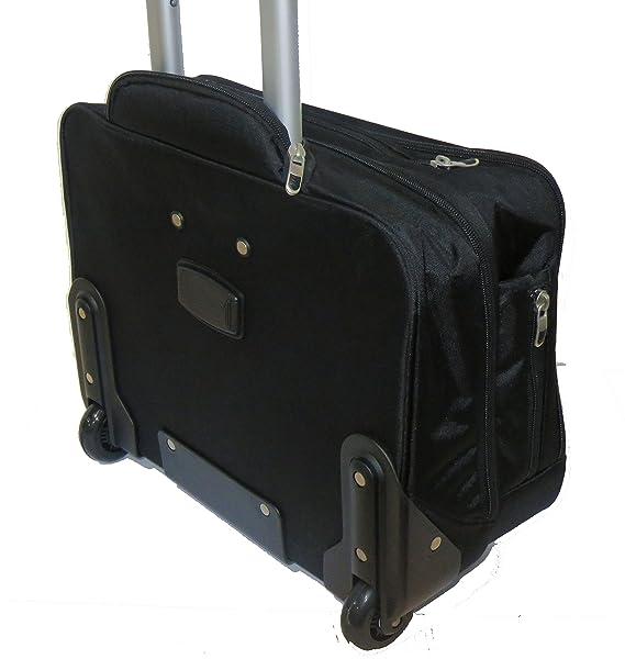 Maleta Maletín para ordenador portátil iPad equipaje de mano Trolley con ruedas (002 Negro): Amazon.es: Equipaje