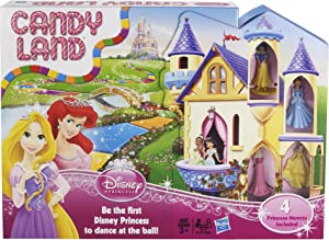 Hasbro Candy Land Game: Disney Princess Edition Board Game with Princesses Belle, Aurora, Snow White, and Cinderella Kids Game Ages 3+(Amazon Exclusive)