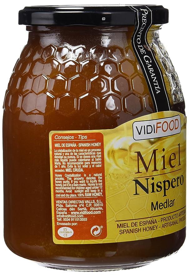 Miel de Níspero - 1kg - Producida en España - Alta Calidad, tradicional & 100% pura - Aroma Floral y Sabor Rico y Dulce - Amplia variedad de Deliciosos ...