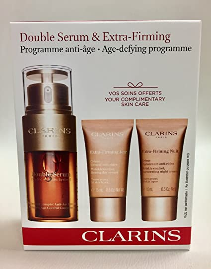 CLARINS DOUBLE SERUM 30 ML + EXTRA FIRMING DAY 15 ML + EXTRA ...