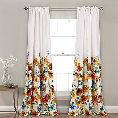 Lush Decor 16T002249 Percy Bloom Window Curtain Panel Pair