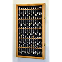 60 Spoon Display Case Cabinet Wall Mount Rack Holder w/98% UV Protection Lockable