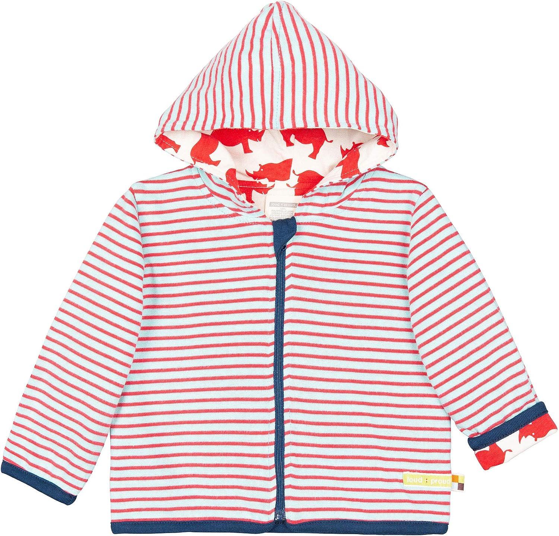 Aus Bio Baumwolle loud proud Baby Wendejacke Mit Kapuze Gots Zertiziziert Sweat Jacket