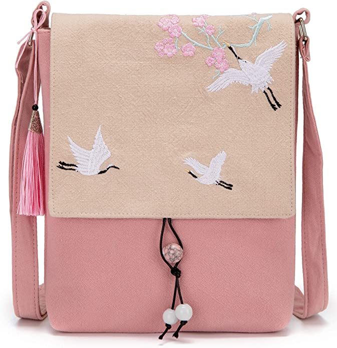 Women shoulder ipad bag modern patchwork quilted purple party bag teen girls cross body weekend purse with roses gift idea