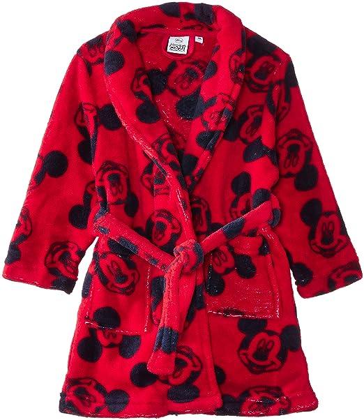 Disney Mickey Mouse Nh2015 - Albornoz para niños, Rot (True Red), 3 años: Amazon.es: Ropa y accesorios