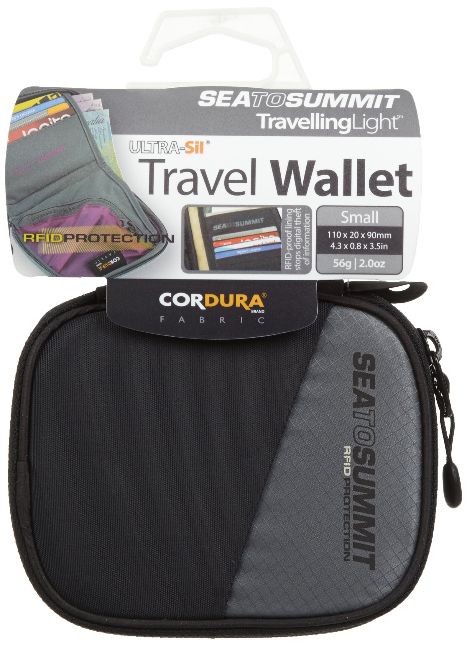 Sea to Summit Travelling Light Travel Wallet RFID, Black, Small by Sea to Summit