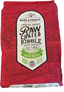 STELLA AND CHEWY Freeze Dried Raw Coated Kibble Grain Free Cage Free Duck Recipe Dog Food 22 Lbs