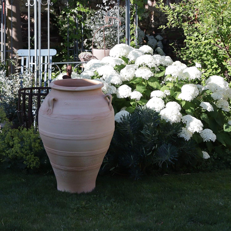Kreta - Jarrón de cerámica resistente a las heladas, terracota, ánfora, con asa, hecho a mano, arcilla, ideal para el jardín o como decoración, Olea, diferentes tamaños 50 – 110 cm, Olea