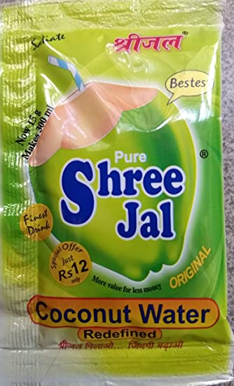 Shreejal Coconut Water mix Economy Pack of 100 Sachets, (11 gram each)