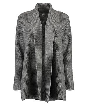 neues Design neuer Stil unverwechselbarer Stil FTC Cashmere Damen Strickjacke - grau - L: Amazon.de: Sport ...