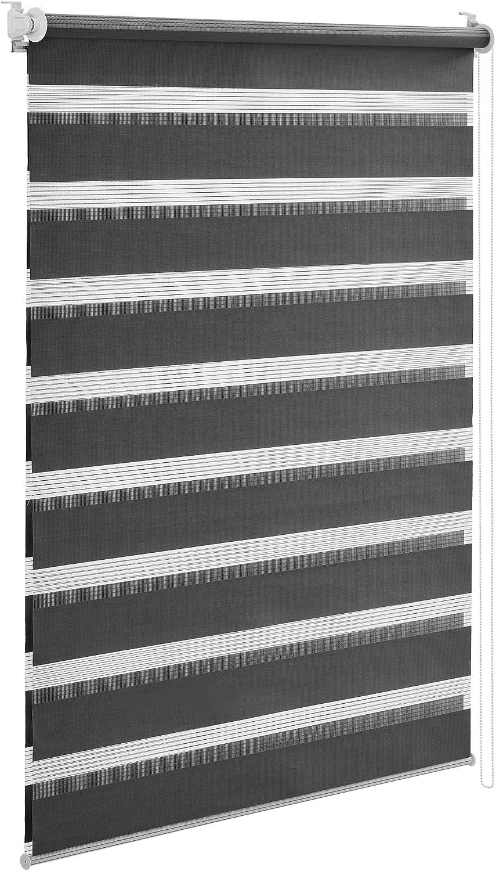Fenêtre Store 100x175 cm double store à enrouleur Klemmfix Stores d/'sans percer Duo store