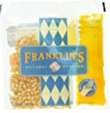 Franklin's Gourmet Movie Theater Popcorn. Organic Popping Corn, 100% Coconut Oil, & Seasoning Salt. Pre-Measured Portion Packs (Pack of 10).