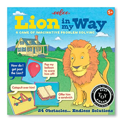eeBoo Lion in My Way Problem Solving Obstacle Board Game for Kids: Toys & Games