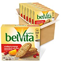 belVita Cranberry Orange Breakfast Biscuits, 6 Boxes of 5 Packs (4 Biscuits Per...
