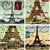 """CoasterStone AS2710 Absorbent Coasters, 4-1/4-Inch, """"Paris"""", Set of 4"""