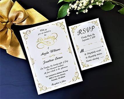 Amazon Com Pop Up Wedding Invitations With Envelopes Unique And