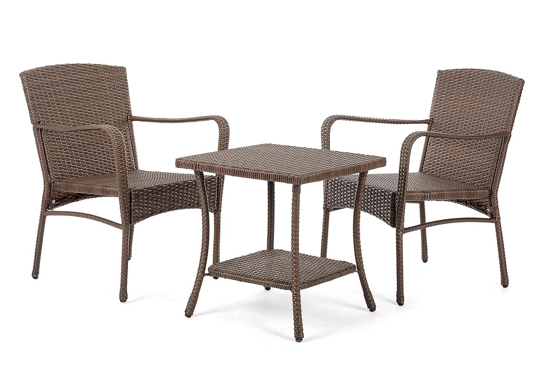 Flex HQ Leisure Collection Outdoor Garden Patio Furniture 3 PC Conversation Set