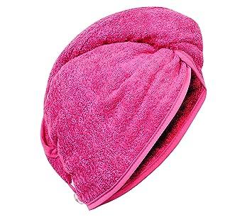 carenesse haarturban pink 100 saugstarke baumwolle aufsetzen