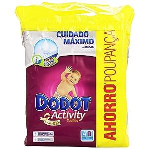 Dodot Activity - Toallitas, 4 paquetes de 54 unidades, 216 toallitas