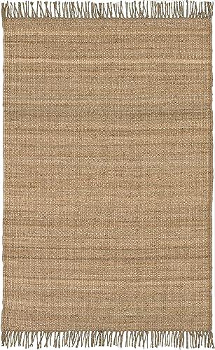 Surya Jute Natural JUTE Natural Fiber Hand Woven 100 Natural Jute Wheat 5' x 8' Area Rug