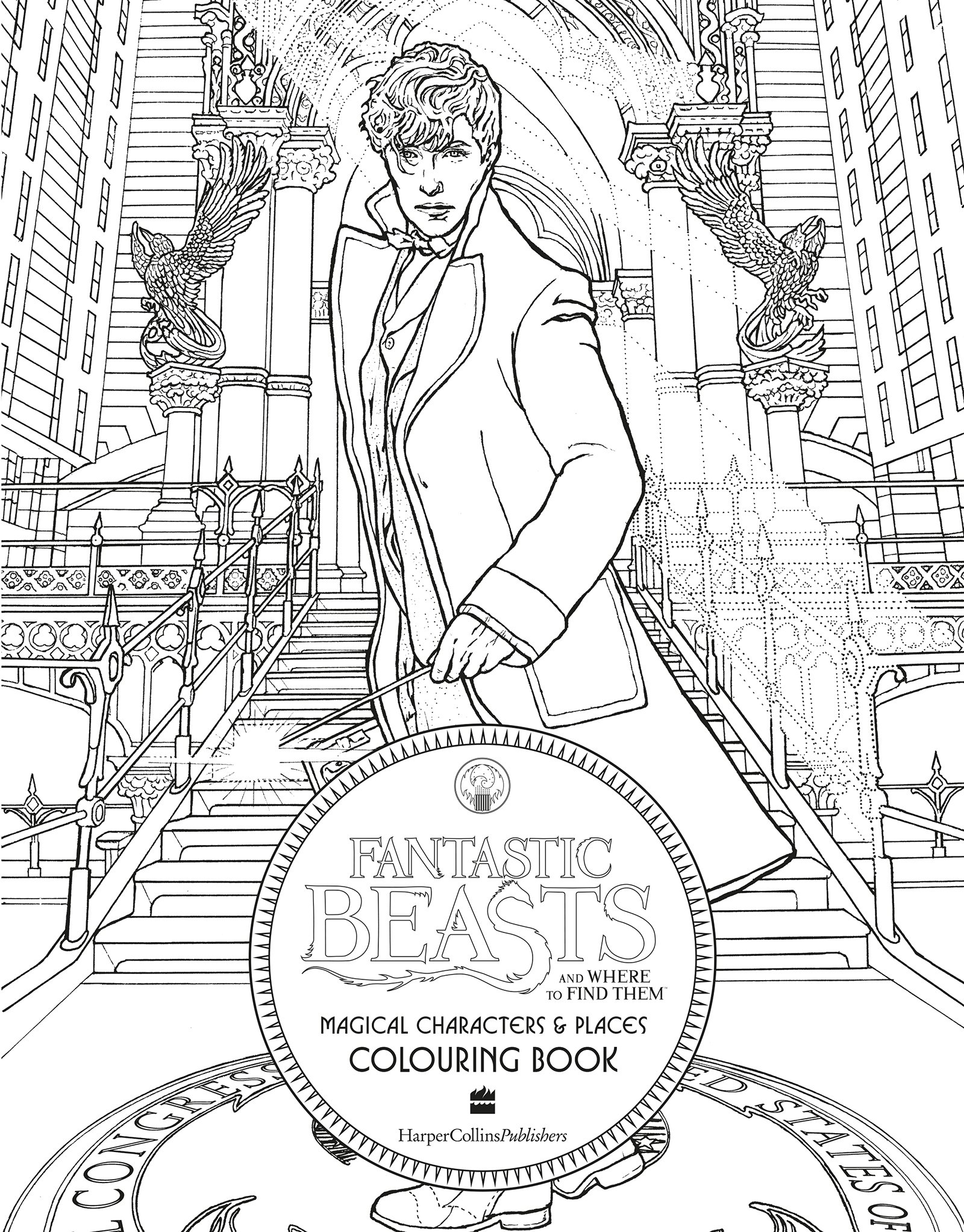 fantastic beasts coloring pages Fantastic Beasts and Where to Find Them: Magical Characters and  fantastic beasts coloring pages