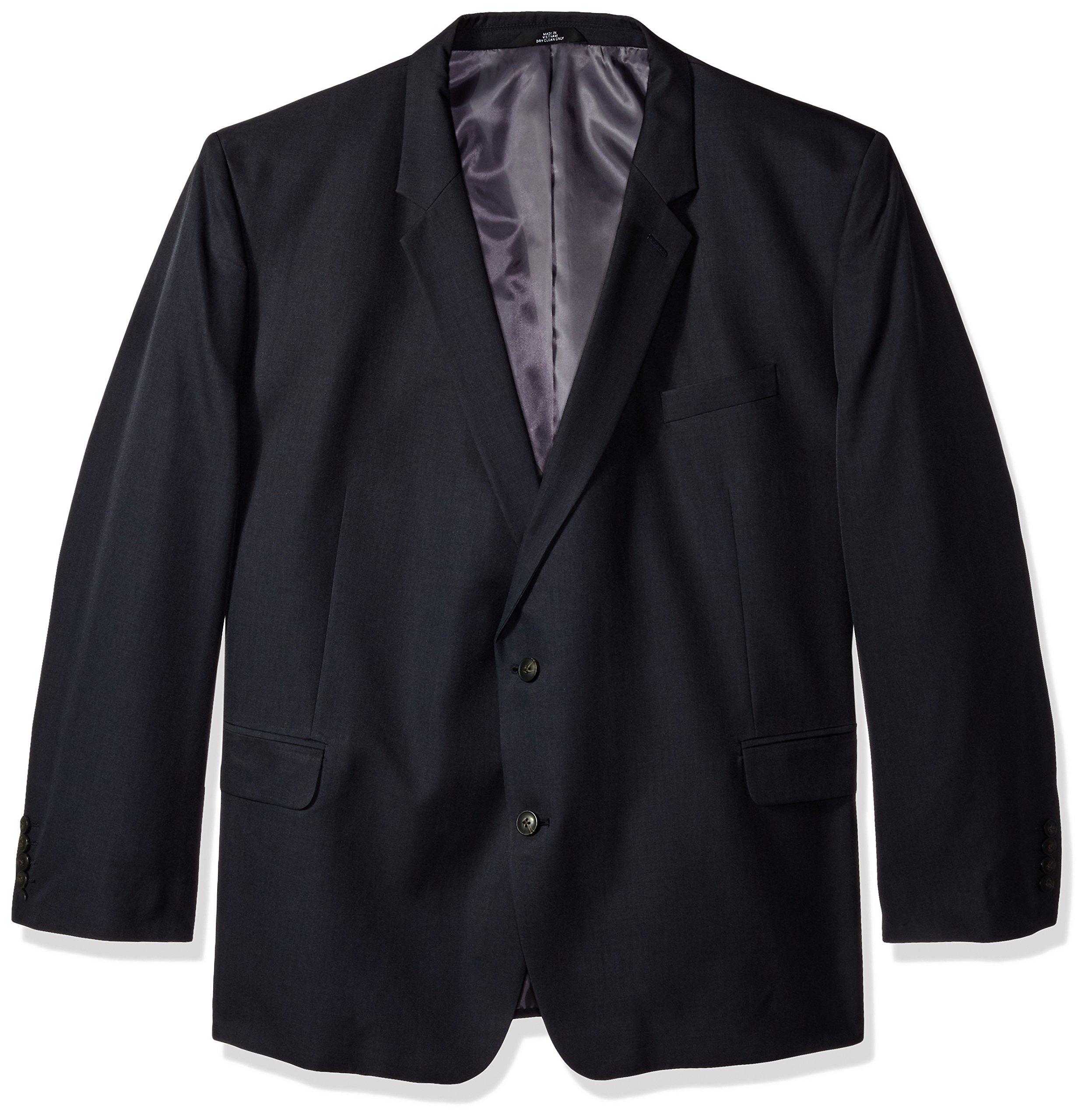 Haggar Men's Big and Tall B&t J.m Premium Stretch Classic Fit 2-Button Coat, Dark Navy, 60R