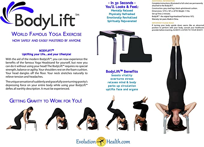 Evolution Health USA The Original headstander: Bodylift Headstand Bench/Yoga Chair