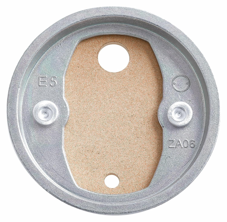 Tesa Befestigungsadapter BK20-2 (selbstklebend, 2 Zamak Ringe aus Kupfer, inkl. Klebetube und Ausdrü ckhilfe, Durchmesser 41mm) 40351-00000-00