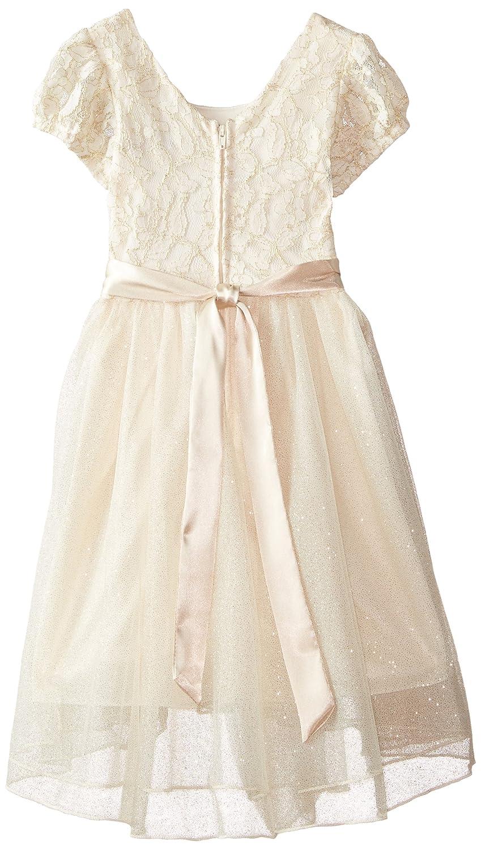 1c4b08ab61b Amazon.com  Speechless Little Girls  Lace High Low Puff-Sleeve Dress   Clothing