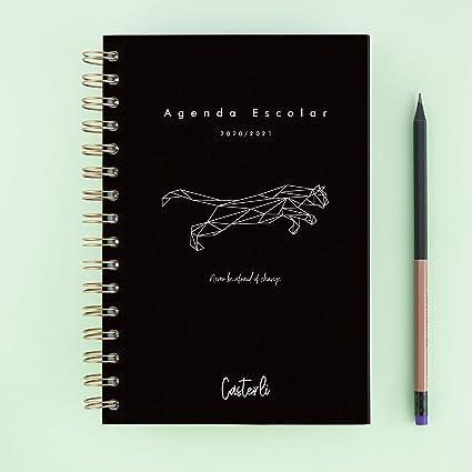Casterli - Colección Tiger - Agenda Escolar 2020-20210, Día Página, Tamaño A5: Amazon.es: Oficina y papelería