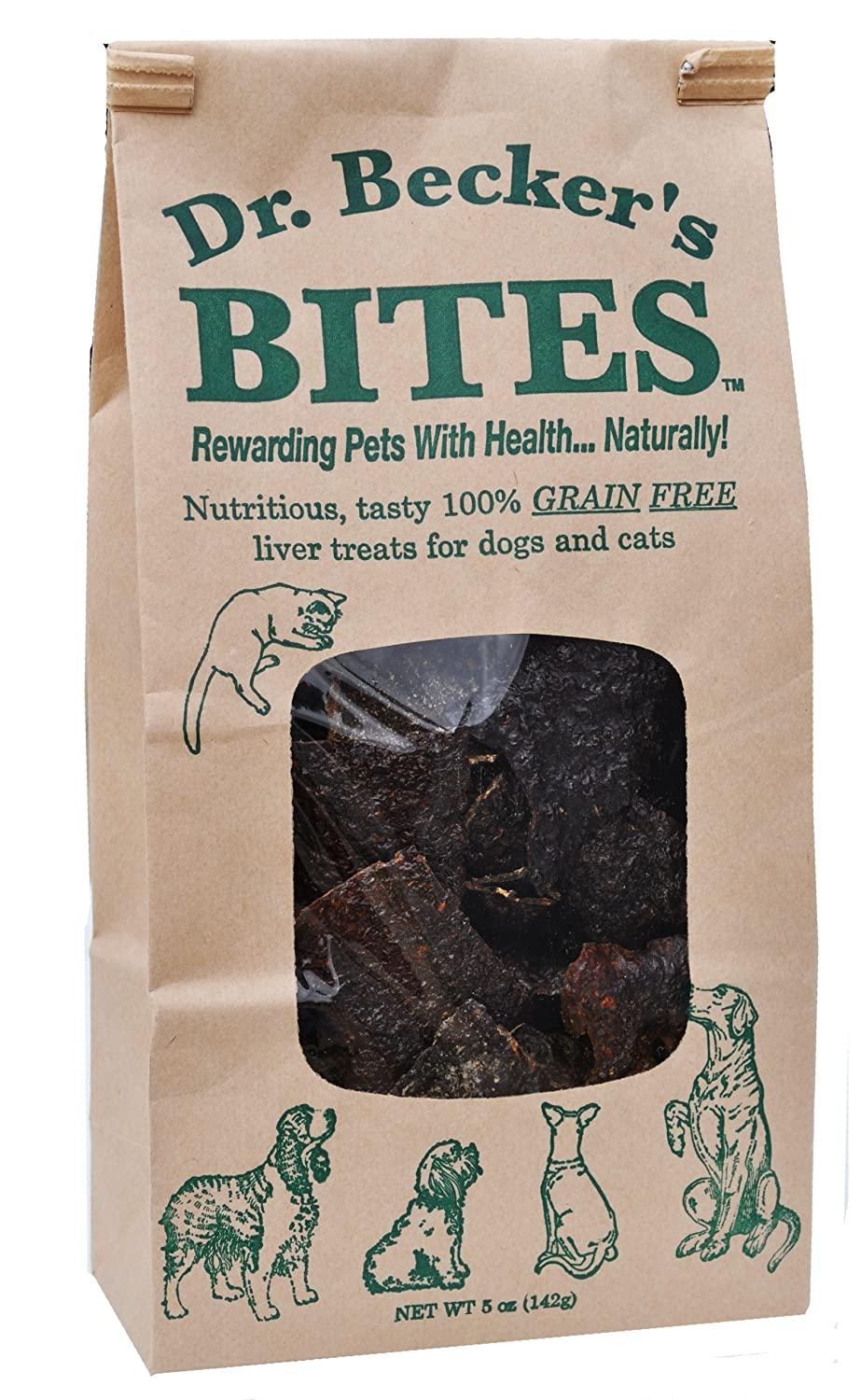 Dr. Becker's Bites Grain Free Liver Treats For Dogs & Cats, 5 oz