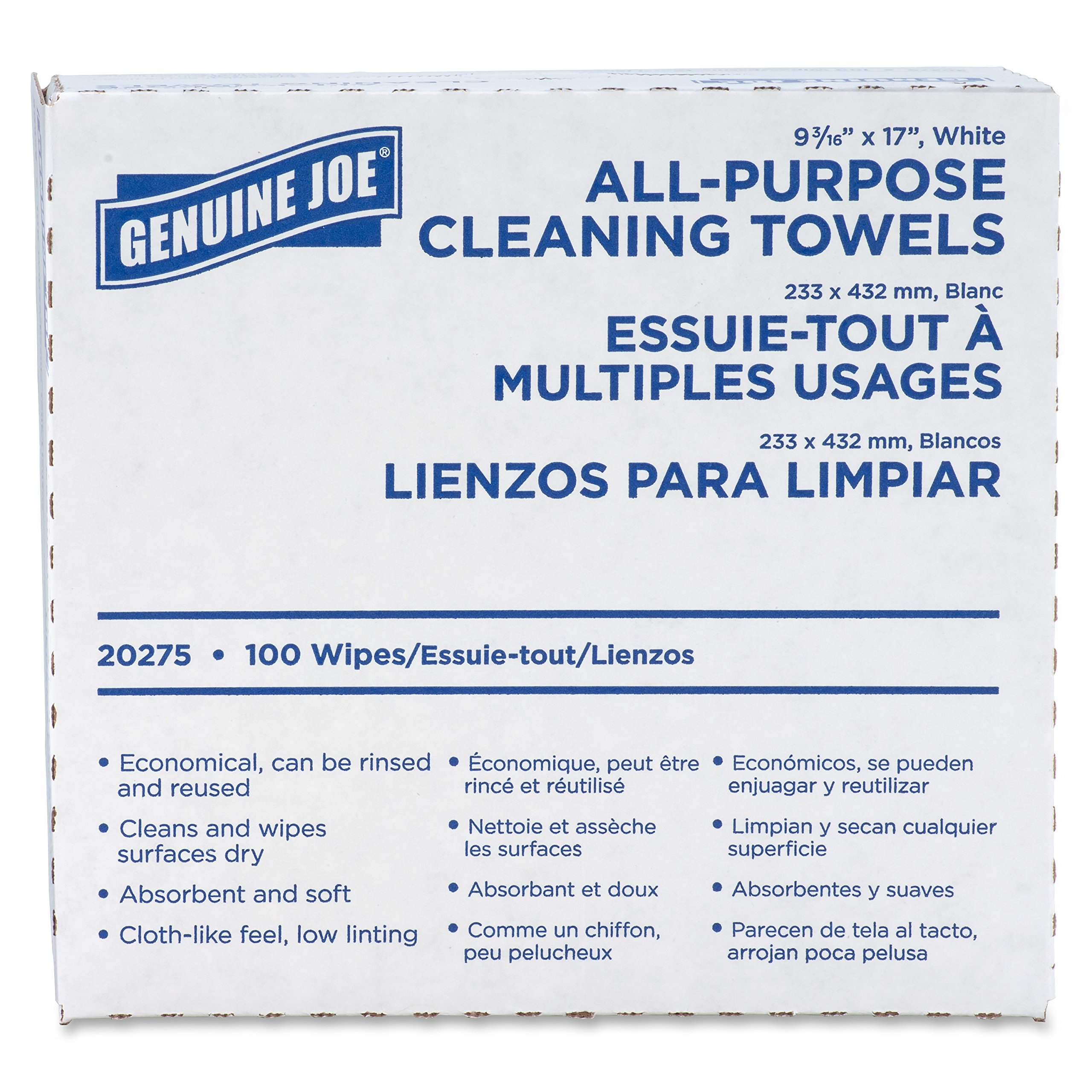 Genuine Joe GJO20275 All-Purpose Cleaning Towel, 9.9