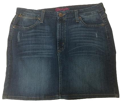 052d49c8 Wrangler Women's Premium Patch Mae Denim Skirt at Amazon Women's ...